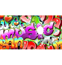 Graffiti Urban Art Background vector image vector image
