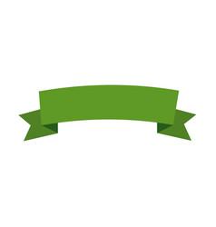 green banner ribbon decoration image vector image