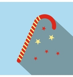 Christmas candy icon flat vector image