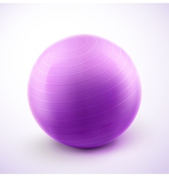 Fitness ball vector image vector image