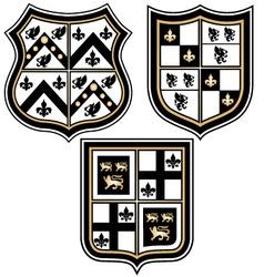 heraldic royal emblem badge vector image vector image
