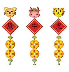 chinese fortune charm vector image vector image