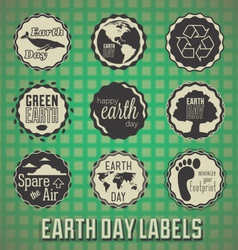 Happy Earth Day Labels vector image vector image