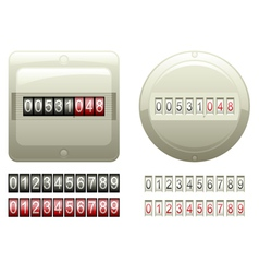 Mechanical Counters And Digits vector image