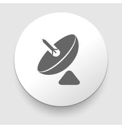 Parabolic antenna Icon Isolated on White vector image vector image