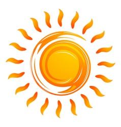 warming sun vector image vector image