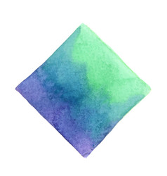 Abstract emerald green purple and blue square vector