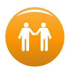 Agreement icon orange vector