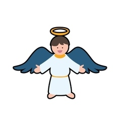 angel cartoon fairy wing heaven icon vector image