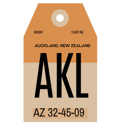 Auckland airport luggage tag vector