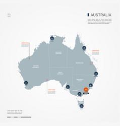 Australia infographic map vector