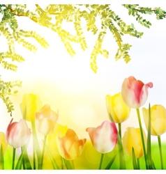 Beautiful spring flowers eps 10 vector