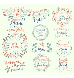Best Choice Main DishesNatural ProductsRestaurant vector image