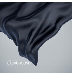 Black silk fabric vector image