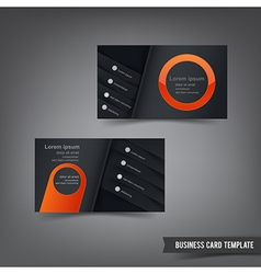 Business Card template set 029 orange and dark vector
