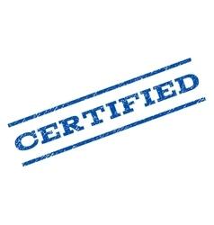 Certified Watermark Stamp vector