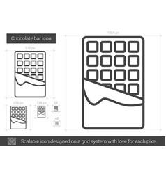 chocolate bar line icon vector image