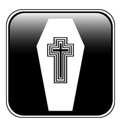 Coffin button vector image