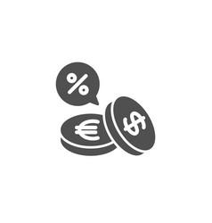 Coins money simple icon cashback service vector