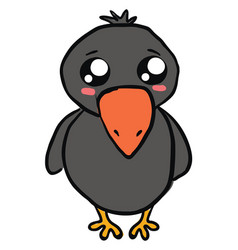 cute bacrow on white background vector image