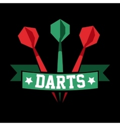 Darts label Badge Logo sporting symbols vector image