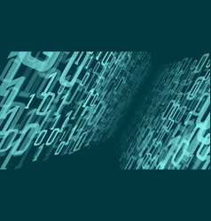 digital cloud computing numbers random data vector image
