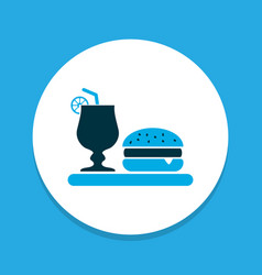 Dinner icon colored symbol premium quality vector