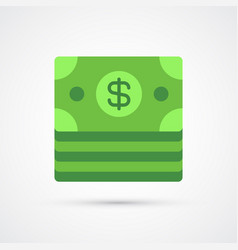 dollar trendy symbol trendy colored vector image