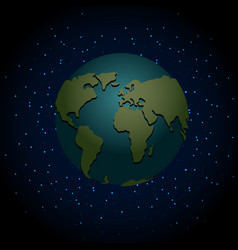 Earth night nighttime planet in space lot of vector