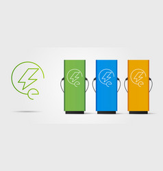 Electro power vehicle symbol and set charging vector