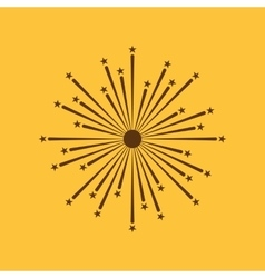 Firework icon Holiday symbol Flat vector
