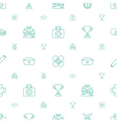 First icons pattern seamless white background vector