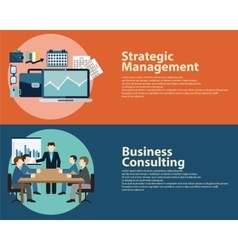 Flat style business success strategy management vector
