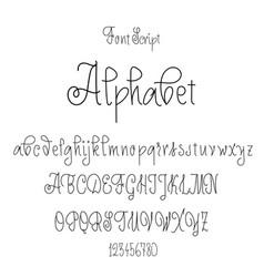 Font drawn on basis handwriting calligraphy vector