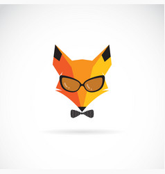fox wearing sunglasses on white background animal vector image