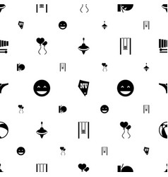 Fun icons pattern seamless white background vector