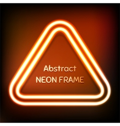 Glowing neon triangle frame vector image