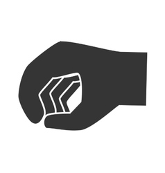 Hand clenched sign icon vector image