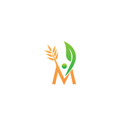 healthy holistic center initial m vector image