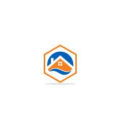 Home realty company logo vector