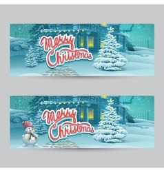 Horizontal banner - cartoon vector