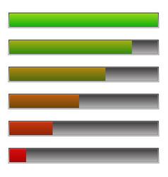 horizontal progress loading bars to progression vector image