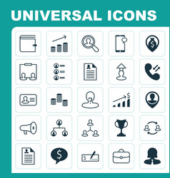 Hr icons set collection of partnership payment vector