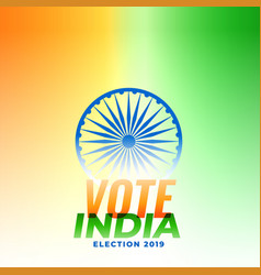indian election banner design vector image