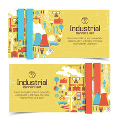 industrial banners set vector image