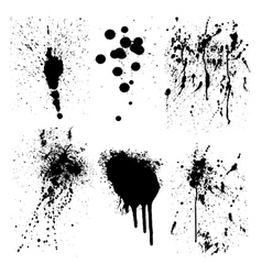 Ink splatter marks vector