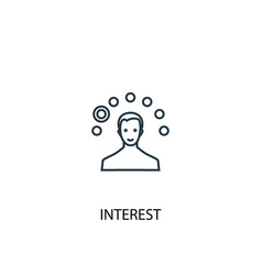 interest concept line icon simple element vector image