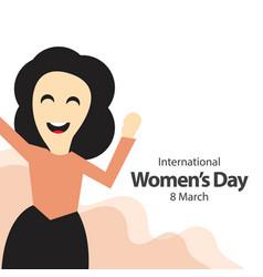 international womens day template design vector image