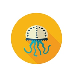Jellyfish flat icon Summer Vacation vector