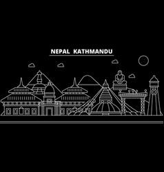 kathmandu silhouette skyline nepal - kathmandu vector image